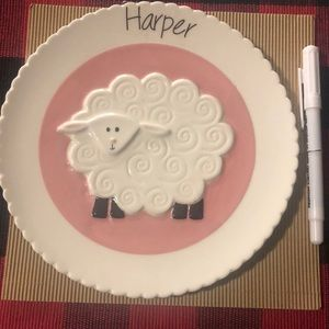 Personalized plate for a girl